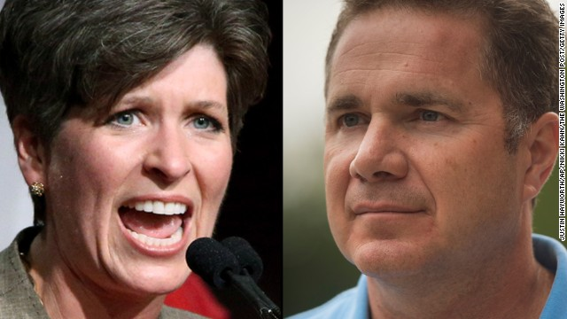 Republican Joni Ernst (left) is facing off against Democrat Bruce Braley (right) for the U.S. Senate race in Iowa, where early voting is a key part of both parties' strategy.