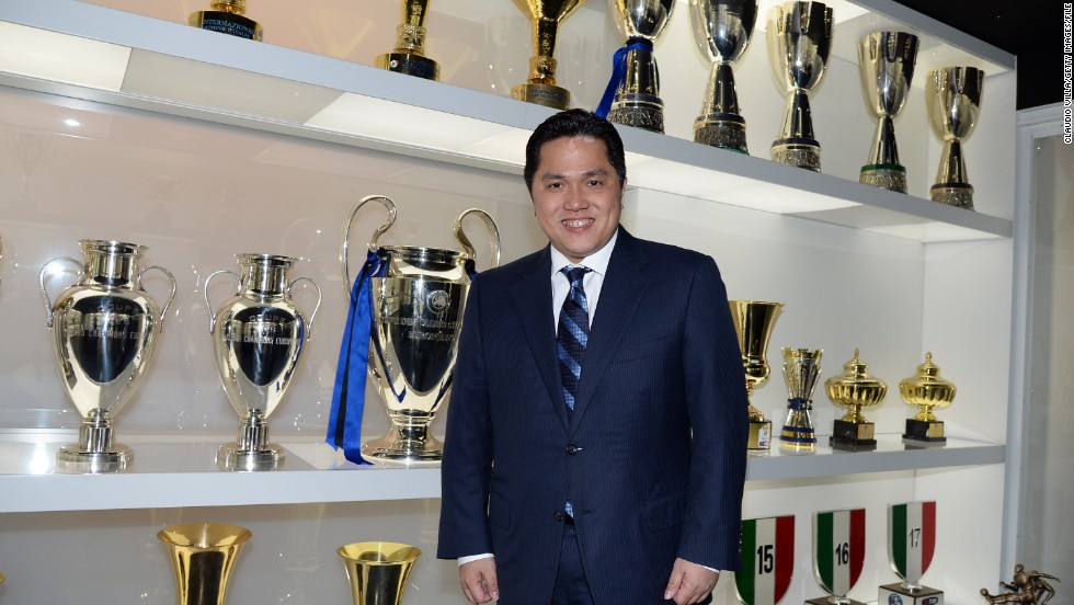 The 44-year-old Thohir took a 70% stake in Inter just under a year ago. He is one of only two foreign owners in Serie A.