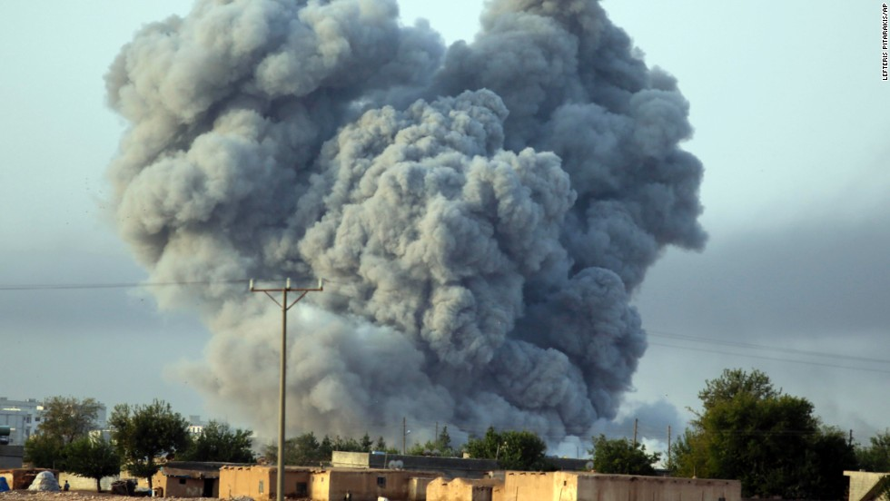 Explosions in Kobani get more intense