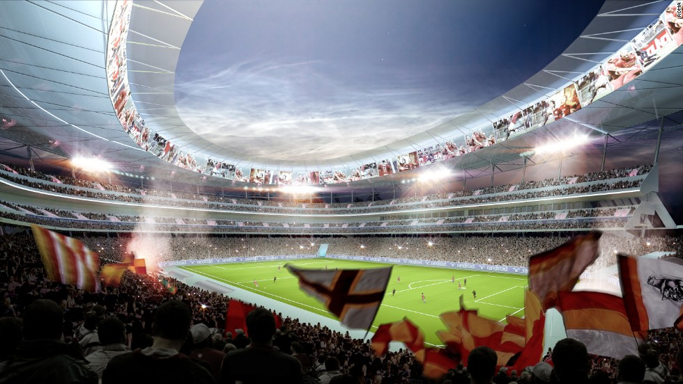 The new Roma Stadium is set to open in time for the 2016/17 season. The club will move away from the Stadio Olimpico which was opened in 1953.
