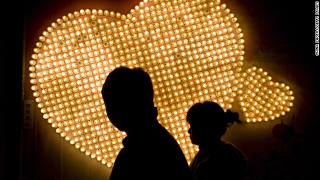 "Lonely hearts in China can sign up to receive texts and phone calls from a virtual ""girlfriend"" or ""boyfriend."""
