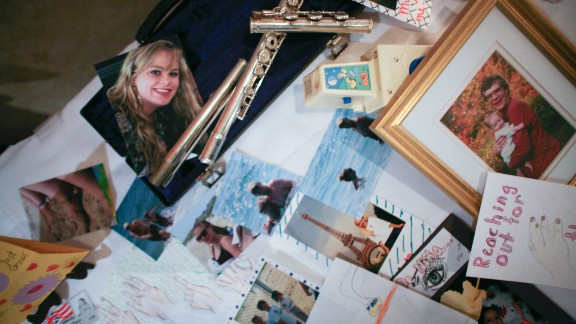 Mementos from Morgan Harrington's life were displayed at a reception after a memorial mass for her in Roanoke, Virginia.