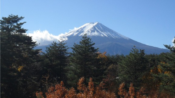 Mount Fuji, an active volcano, is also Japan