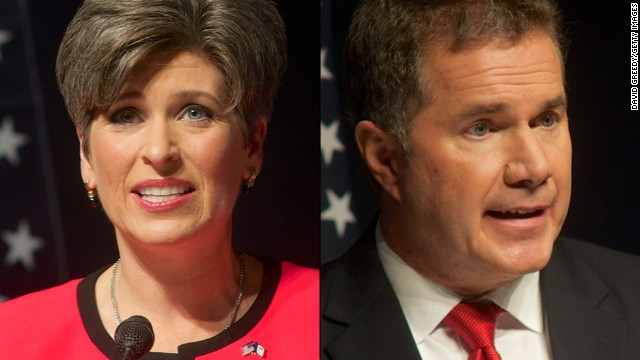 Republican state Sen. Joni Ernst (left) and Democratic Rep. Bruce Braley are vying to represent Iowa in the U.S. Senate.