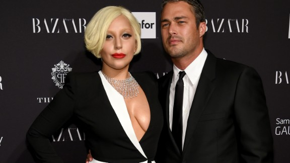Lady Gaga and Taylor Kinney attend a Samsung and Harper's Bazaar event in New York on September 5.