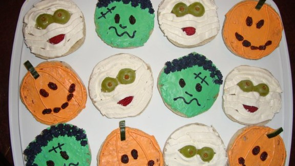 Cream cheese replaces sugar in this Halloween recipe.