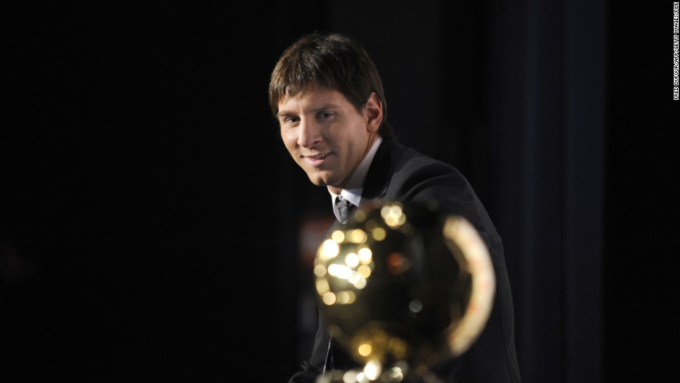 Messi's contribution to Barca's success was recognized as he was awarded the Ballon d'Or, the prize annually awarded to the world's best player. He has gone on to lift the gong on three further occasions.