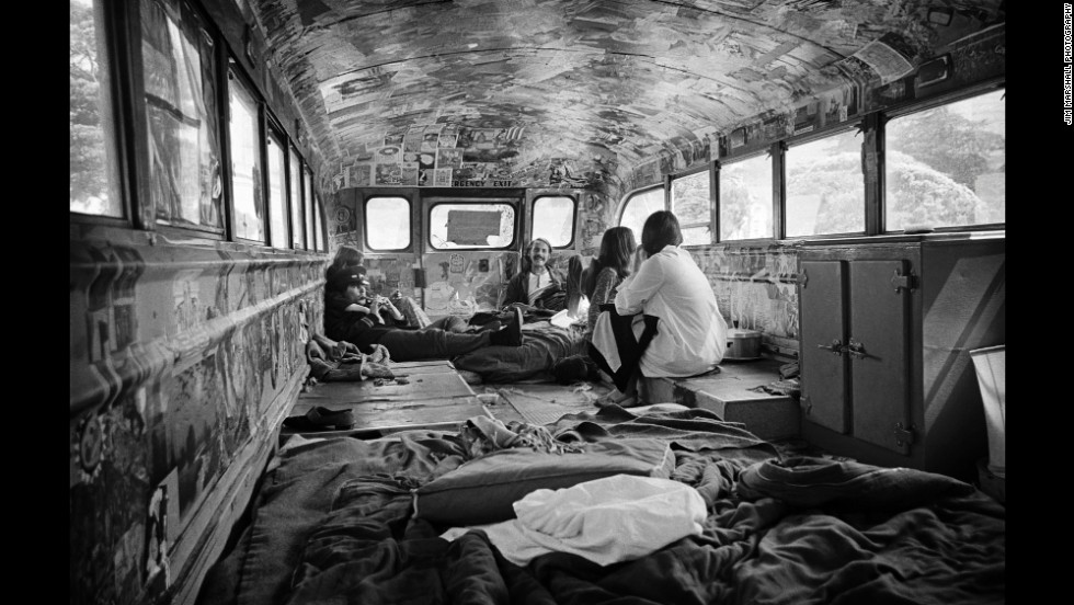 Marshall was there when Ken Kesey's Merry Pranksters came to town. The group's famous bus wasn't just colorful on the outside.