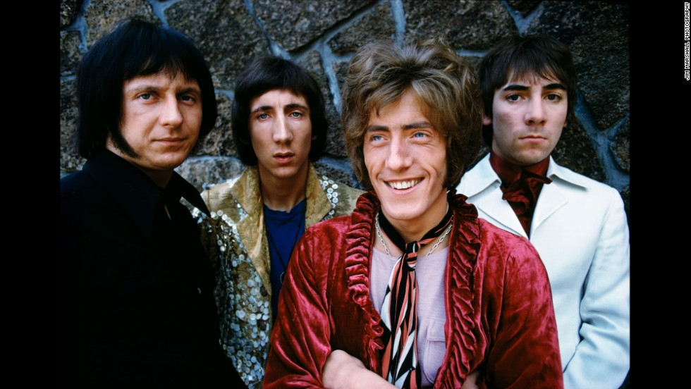 The Who -- from left: John Entwistle, Pete Townshend, Roger Daltrey and Keith Moon -- are shown on the San Francisco stop of their first U.S. tour in 1967.