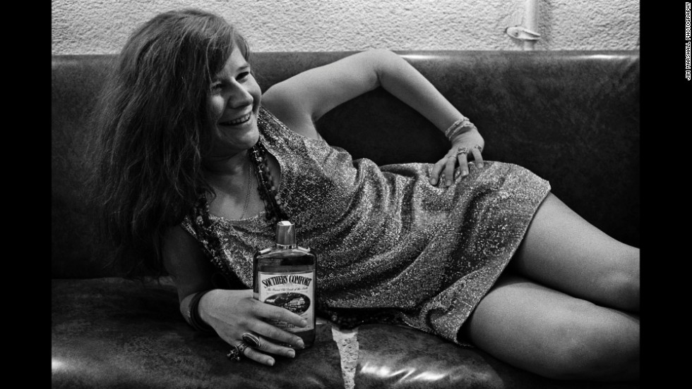 In a famous photo, Marshall captured Janis Joplin backstage at Winterland in 1968.