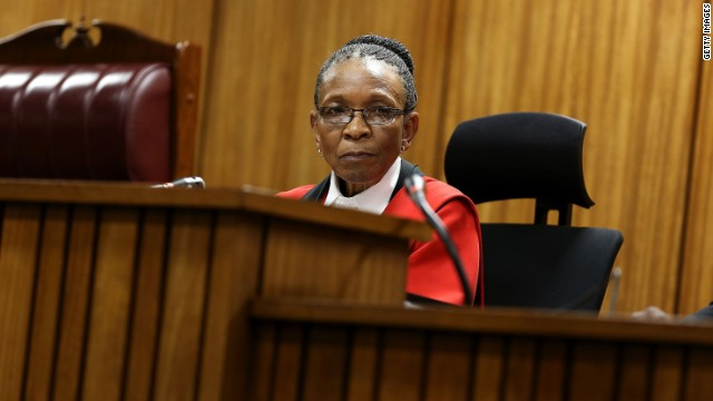 Judge Thokozile Masipa during Oscar Pistorius's sentencing hearing in the Pretoria High Court for sentencing in his murder trial on October 16, 2014, in Pretoria, South Africa. Judge Thokozile Masipa found Pistorius not guilty of murdering his girlfriend Reeva Steenkamp, but convicted him of culpable homicide.