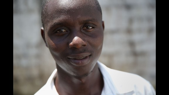 John Massani, 27, said that Ebola killed six members of his extended family and he thinks he contracted the disease while caring for a sick relative.