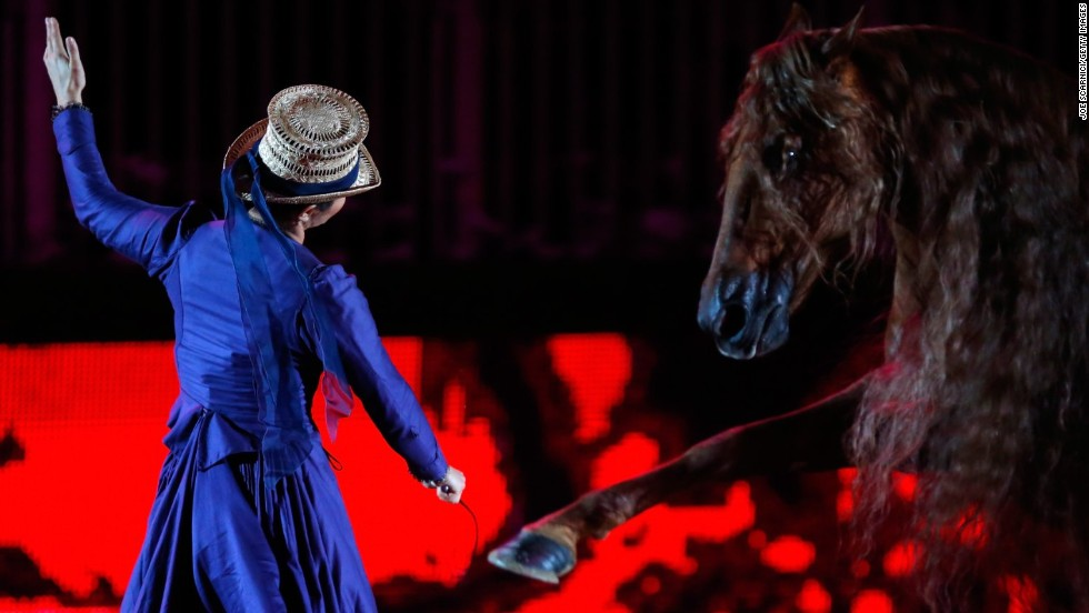 Clémence Faivre has caused quite a stir in the equestrian world with her theatrical horse shows.