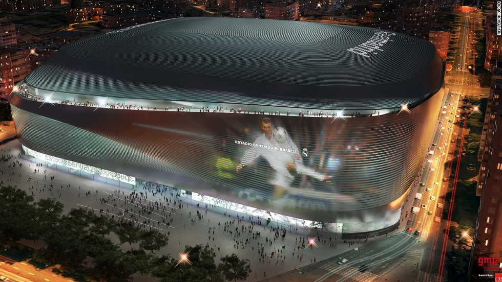 State-of-the-art technology will allow the stadium's exterior to replay the greatest moments in the illustrious history of the 11-time European champions.
