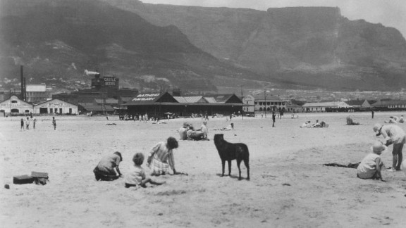 This photo of Woodstock beach in 1934 shows how the area looked before it was developed.
