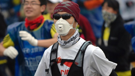 ....and sporting events like the recent Beijing marathon.