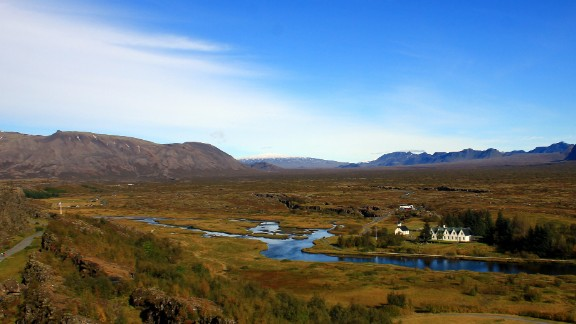 Located in Iceland, Thingvellir National Park receives thousands of visitors per year. The park offers many activities including camping, horseback riding and even diving in its famous waters. Thingvellir