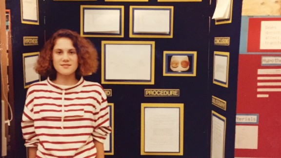 "When Heather's mother took this picture of her at a science fair in 1991, she had no idea that Heather would grow up to become a NASA intern and that they would write two science books together. ""When I was in middle school, my science research teacher took me under his wing and encouraged my research ambitions,"" says Heather Reis Tomasello from Florida.    ""This small investment of his time and encouragement multiplied exponentially, as I went on to internships at NASA and a large community hospital. I also competed at the international science fair, and paid for half of my college education with scholarships resulting from my science fair awards."""