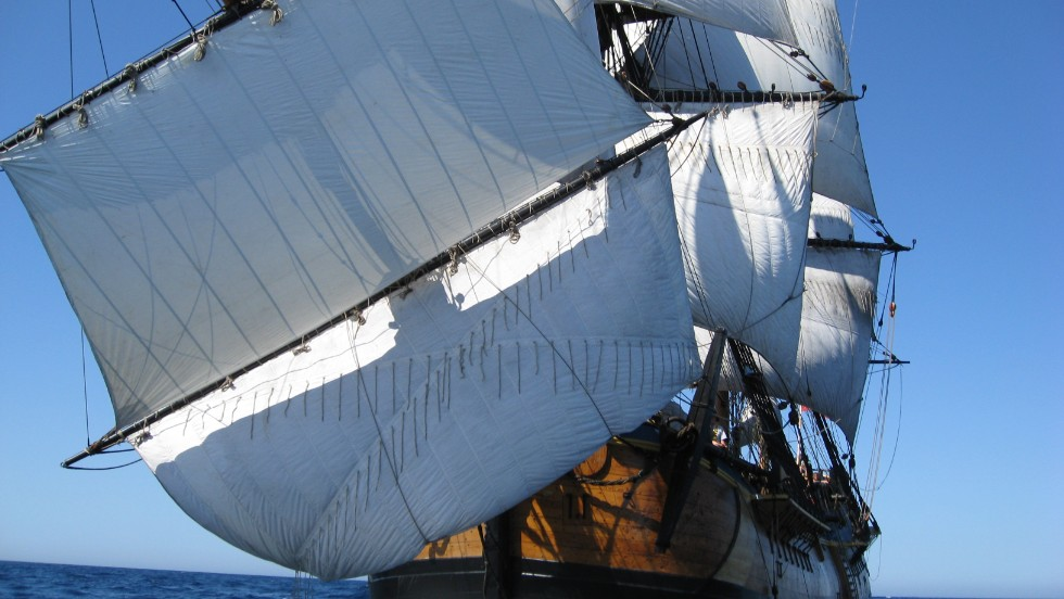 During 2011 and 2012, the HMS Endeavour circumnavigated the whole of Australia.