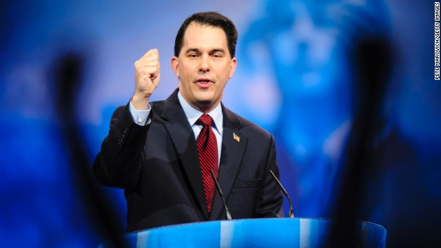 Wisconsin Gov. Scott Walker speaks at the 2013 Conservative Political Action Conference in National Harbor, Md. in March 2013.