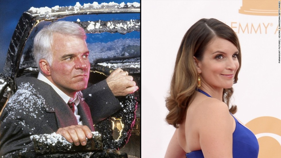 "Funny lady Tina Fey could totally step in for Steve Martin in ""Trains, Planes and Automobiles."""