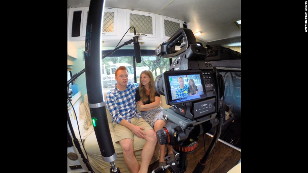 The Padgetts hope to turn their RV experience into a documentary. They film and blog about their travels on a daily basis.
