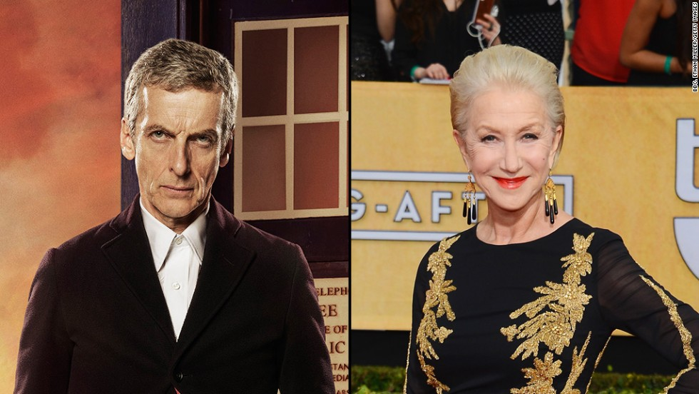 "Brit for Brit, Helen Mirren could totally step into the time-traveling shoes of Peter Capaldi in ""Doctor Who."""