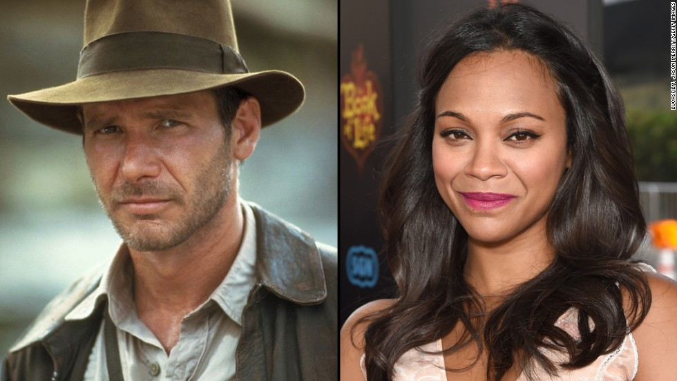 "Zoe Saldana as Harrison Ford in ""Indiana Jones""? Why not? She has a proven track record in playing smart characters who kick butt."