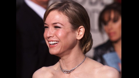 Renee Zellweger at the 58th Annual Golden Globe Awards in Los Angeles, California in January 2001.