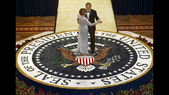 And in 2005, first lady Laura Bush wore a sophisticated silver de la Renta gown to celebrate the inauguration of her husband, President George W. Bush.