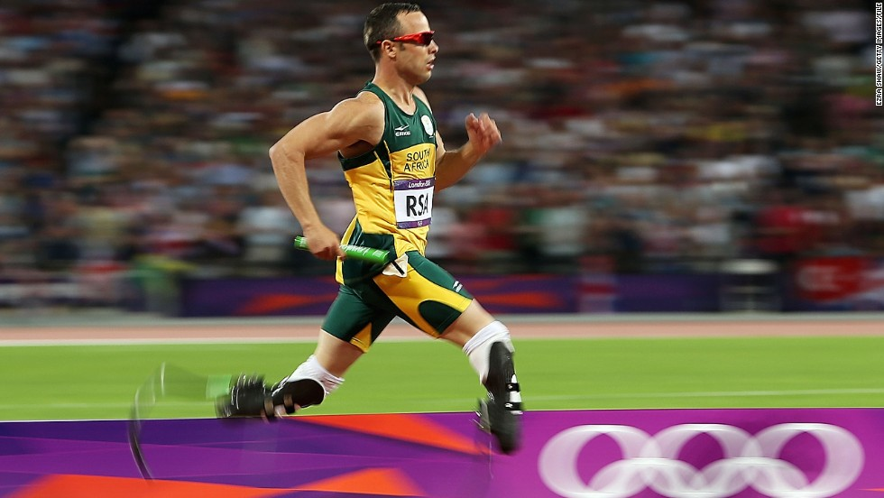 The South African became the first double amputee to compete in the Olympic Games on August 2012, lining up for the heats of the men's 400 meters. He also competed in the 4 x 400m relay.