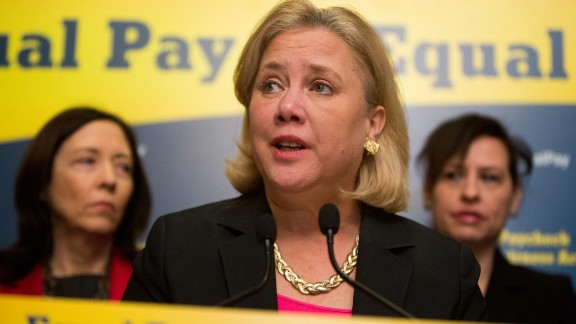U.S. Sen. Mary Landrieu (D-LA) speaks during a press conference to urge Congress to pass the Paycheck Fairness Act, on Capitol Hill April 1, 2014 in Washington, DC.