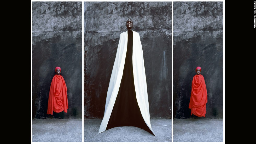 <em>Mohamed and Daughters, Maimouna Gueressi, 2009</em><br /><br />Heavily influenced by the experimentation of body art in the 1970s, 63-year-old Maimouna Gueressi is a photographer, sculptor, video- and installation- artist who splits her time between Italy and Senegal. <br /><br />Her work often addresses the subject of female empowerment. She tends to showcase different cultures to reveal aspects of the today's multicultural society.