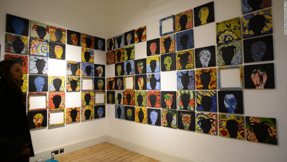 <em>Missing, Peju Alatise, 2013</em><br /><br />Nigerian Peju Alatise is a renowned artist, architect and author who draws inspiration from the world around her and her roots to create poignant works for the public. <br /><br />Recently, her work has focused on the kidnapped Chibok schoolgirls, who are represented in this series of silhouetted portraits.