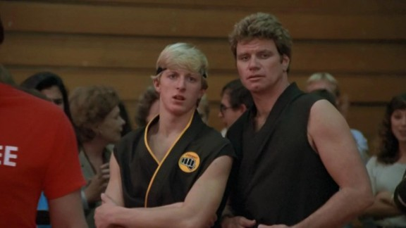 Bullies always seem to get their comeuppance in movies. William Sabka (pictured left) torments and bullies Daniel (The Karate Kid) without any remorse. That