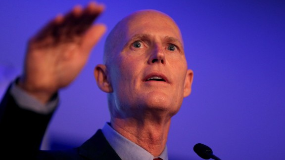 Scott speaks in September during an event at the Latin Builders Association, a group that endorsed his re-election bid.