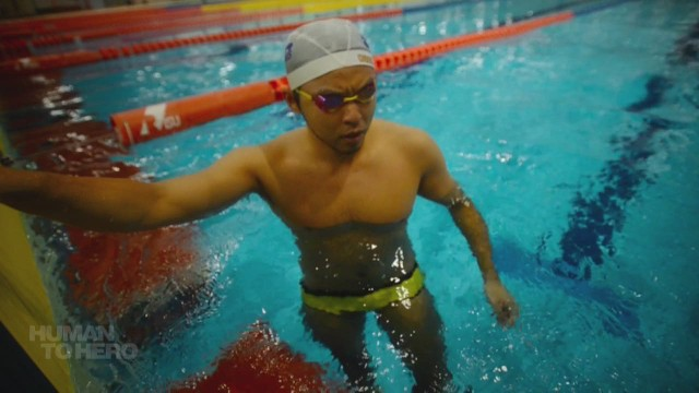 Japan's record-breaking swimmer
