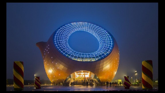 Other examples of bold architecture include this teapot-shaped building in Wuxi.