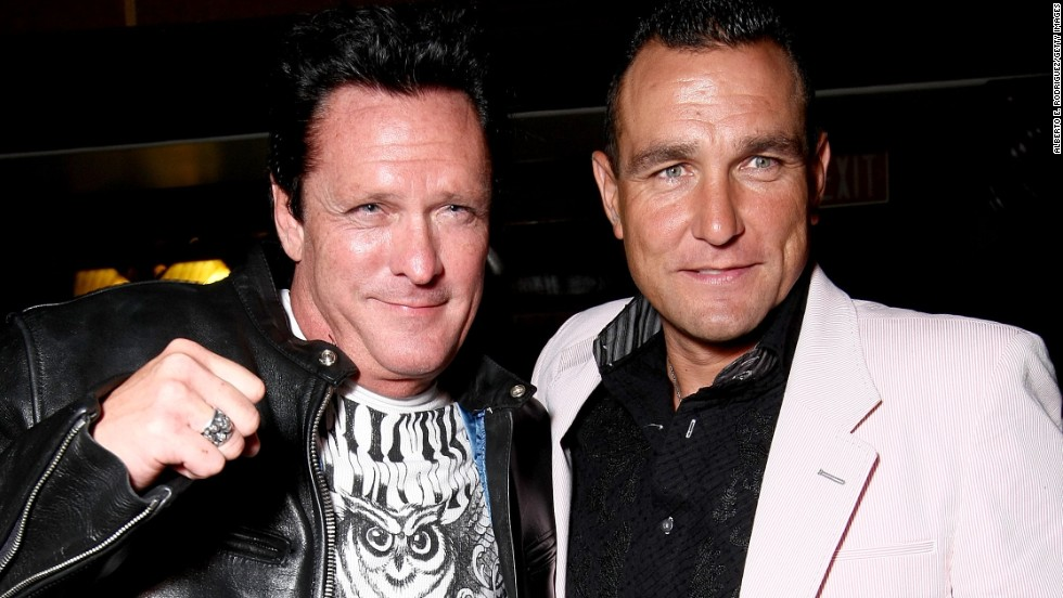 Vinnie Jones (right) was renowned as a hard man for English football team Wimbledon and has carried that persona into his acting.