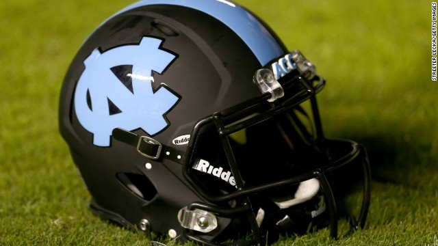 CHAPEL HILL, NC - OCTOBER 17:  A helmet of the North Carolina Tar Heels during their game at Kenan Stadium on October 17, 2013 in Chapel Hill, North Carolina.  (Photo by Streeter Lecka/Getty Images)