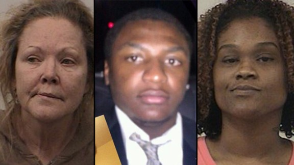 The families of Nikki Listau, left, Deundrez Woods, center, and Tanisha Jefferson are suing an Alabama jail over their deaths.