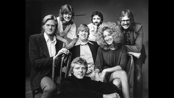 Murray first became known with Chicago's Second City comedy troupe, a group that included (back) Ann Ryerson, Bill Murray, Tino Insana; (center) Jim Staahl, John Candy, Betty Thomas; and (front) David Rasche.
