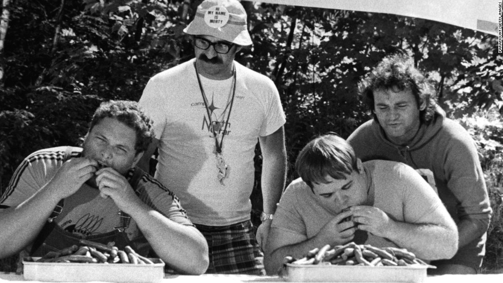 "Murray's first big-screen lead role was in 1979's ""Meatballs."" He played a camp counselor in a film that also featured, left to right, Peter Hume, Harvey Atkin and Keith Knight."