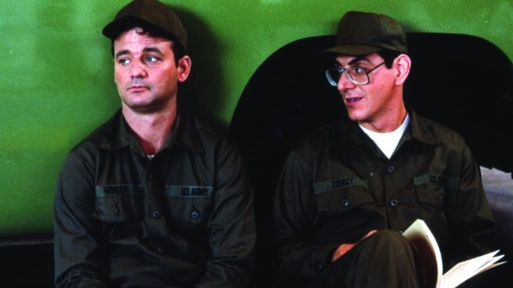 """With """"Stripes"""" (1981), Murray -- here with Harold Ramis -- got his name above the title. In one scene, he leads his a platoon in a rousing version of """"Doo Wah Diddy Diddy."""""""