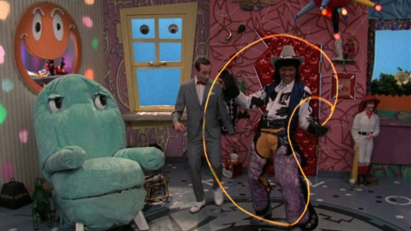 Chairy, Mr. Window, Pee-wee and Cowboy Curtis (Laurence Fishburne -- yes, that Laurence Fishburne).