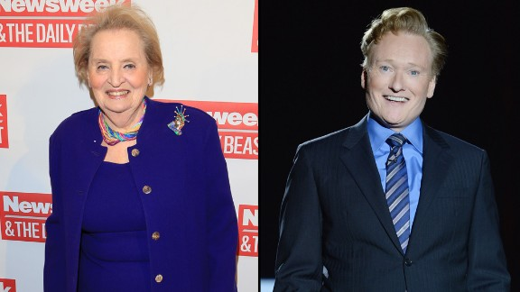 Former Secretary of State Madeleine Albright did not let Conan O