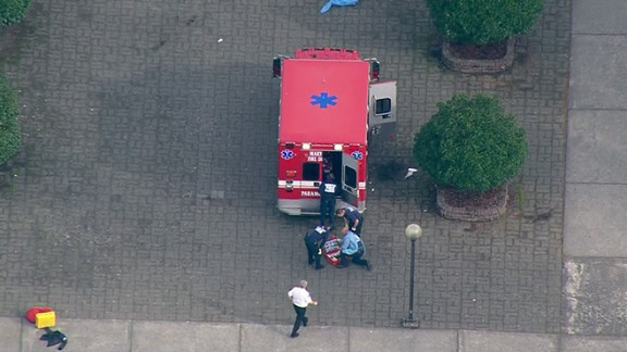 EMBARGO: Seattle-Tacoma, WA The shooting at Marysville-Pilchuck High School occurred in the cafeteria, a student on lockdown inside a classroom told CNN. Students initially thought it was a fire drill until teachers told everyone to run into the classrooms because there was an active shooting. Credit: KOMO