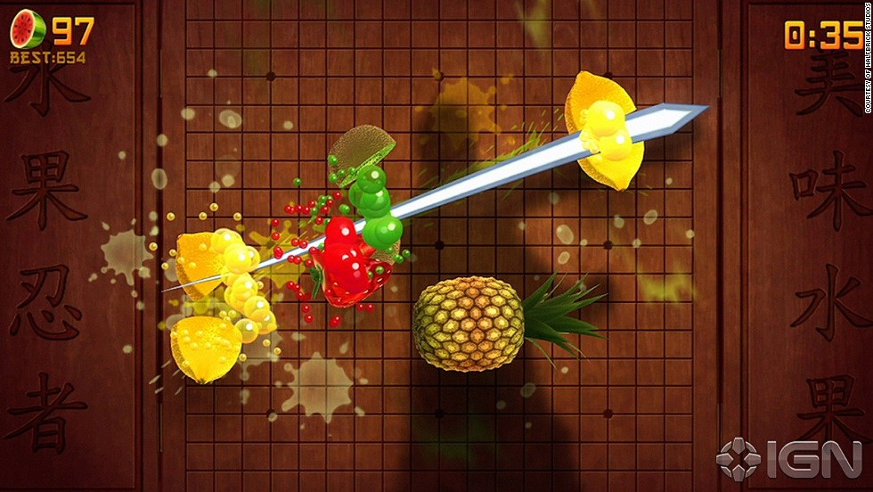 Who knew slicing fruit could be so fun? This messy game has been downloaded over 500 million times to date.