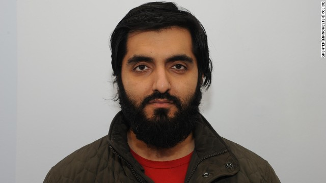 Teacher Jamshed Javeed pleads guilty to two charges under Britain's Terrorism Act.