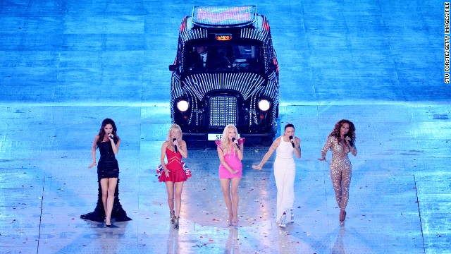 The Spice Girls performed a medley of their hits during the London 2012 Olympic Games closing ceremony.